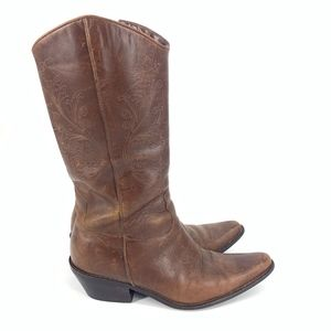 Matisse Tall Brown Leather Western Cowboy Boots